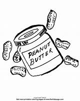 Coloring Peanut Butter Peanuts Printable sketch template
