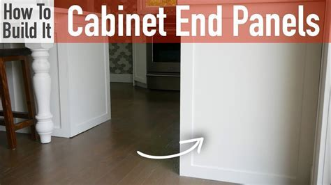 DIY Kitchen Cabinet End Panels   YouTube
