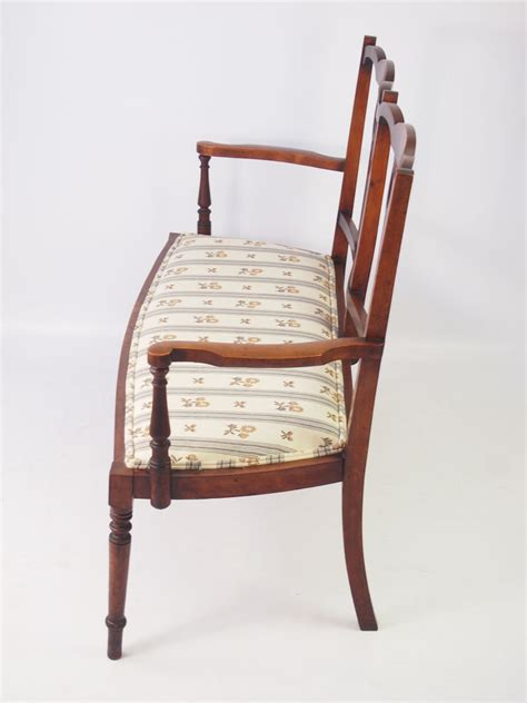 Two Seater Settee by Edwardian Two Seater Parlour Settee