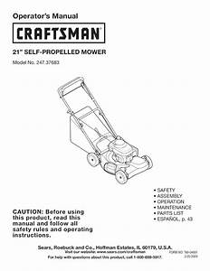Craftsman Lawn Mower 247 37683 User Guide