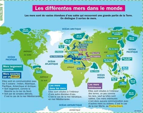 Carte Des Mers Dans Le Monde by Les Diff 233 Rentes Mers Dans Le Monde Monquotidien Fr