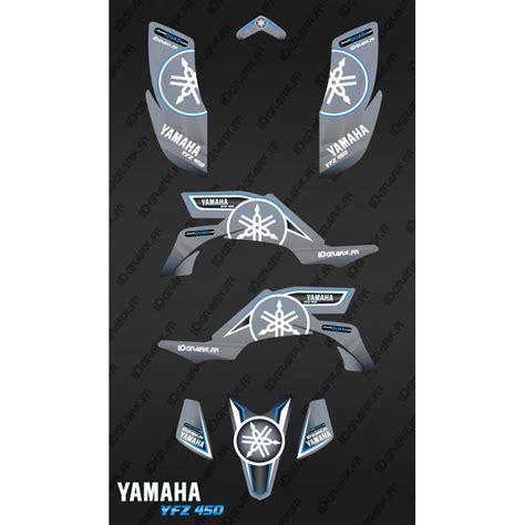 kit deco 450 yfz kit decoration karbonik grey idgrafix yamaha yfz 450 idgrafix