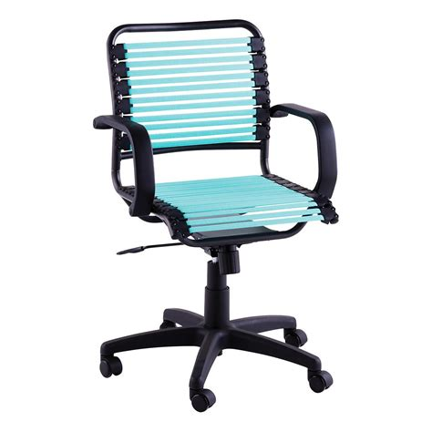 turquoise flat bungee office chair with arms the