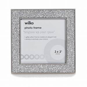Wilko Glitter Photo Frame White 3in x 3in | Octer | £5.00