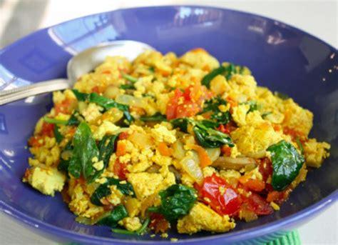 tofu scramble tofu scramble with vegetables recipe popsugar fitness