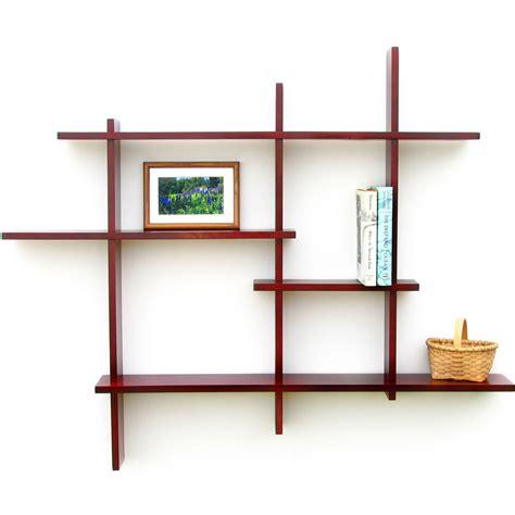 multi tier shelf birch  wall mounted shelves