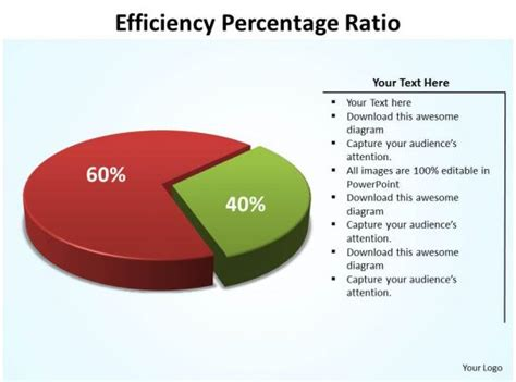 efficiency percentage ratio data driven powerpoint diagram templates graphics  powerpoint