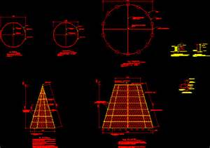 significant steel christmas tree structure in autocad drawing bibliocad