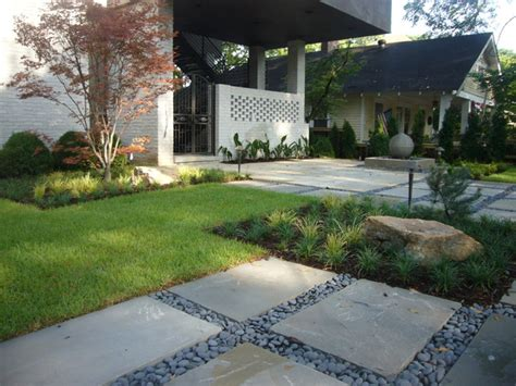 contemporary front yard landscaping zen inspired front yard