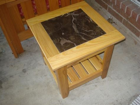 wooden table with tile top tile top patio end table w sketchup model by vrice