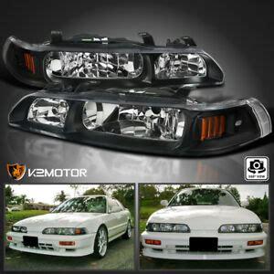 fits   acura integra jdm black  piece replacement headlights leftright ebay