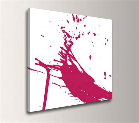 red and white art canvas print paint splat abstract wall decor quot splash quot white canvas