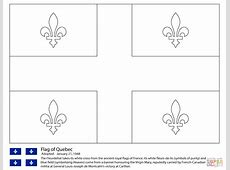 Disegno di Bandiera del Quebec da colorare Disegni da