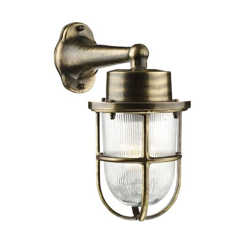 harbour outdoor wall light ant brass