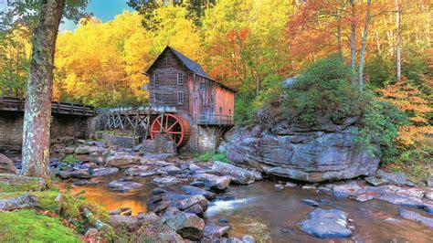 Autumn 4k Uhd Wallpapers by Autumn In Glade Creek Grist Mill Uhd 8k Wallpaper Pixelz