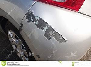 Closeup Of Damage To Car Stock Image  Image Of Preparation
