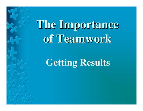 Importance Of Teamwork Quotes Quotesgram