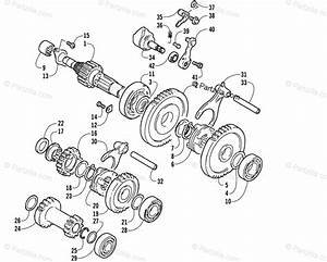 Arctic Cat Atv 2005 Oem Parts Diagram For Secondary Transmission Assembly