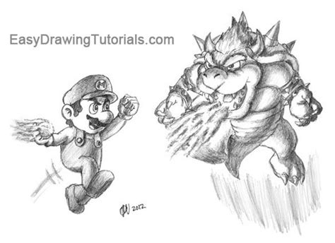 Giga Bowser Kleurplaten by 1000 Ideas About How To Draw Mario On Easy
