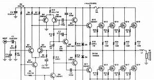 12v 400w Audio Amplifier Circuit Diagram