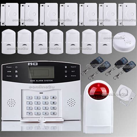 lcd wireless gsm autodial sms home house office security burglar intruder alarm ebay