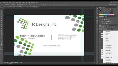 business card tutorial create   photoshop youtube