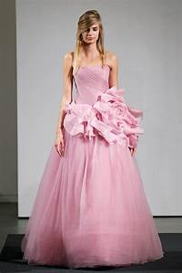 gorgeous pink vera wang wedding dresses sang maestro With pink dresses for wedding