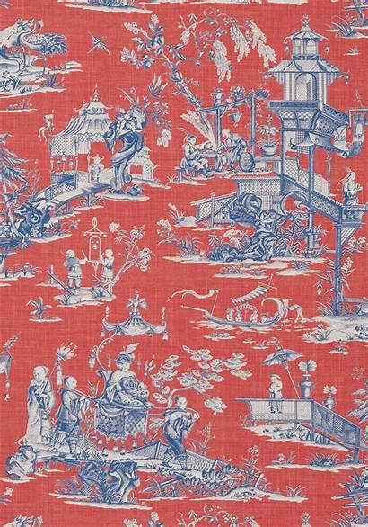 Toile Cheng Thibaut Chinoiserie Pagoda Chinese