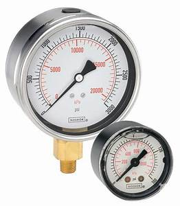 900 Series ABS & Stainless Steel Liquid Filled Pressure Gauges