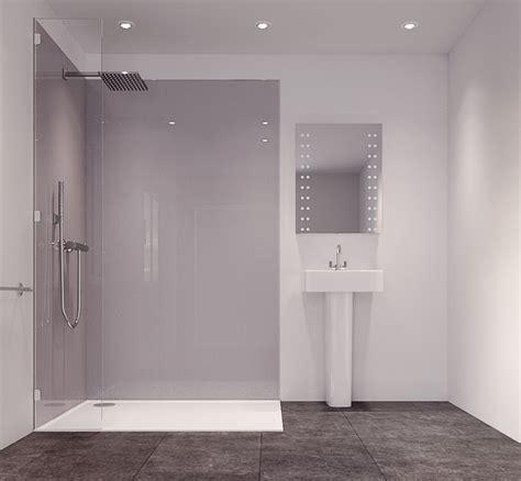 splashwall metallic grey single shower panel lmm