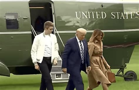 barron towering debate trump sparked sharecaster age