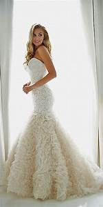 sexy strapless mermaid wedding dress with ruffles elite With show me some wedding dresses