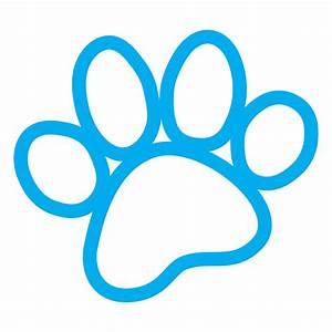 Blue Dog Paw - ClipArt Best