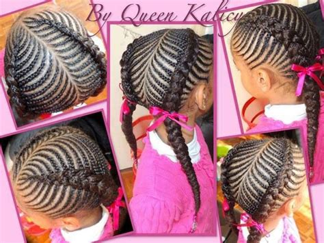 Pretty Cornrow Style African American Natural Protective