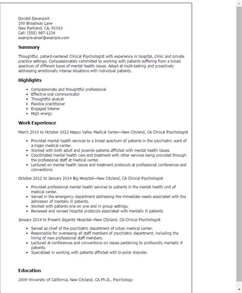 Psychology Resume Template cv template psychology 1 cv template resume