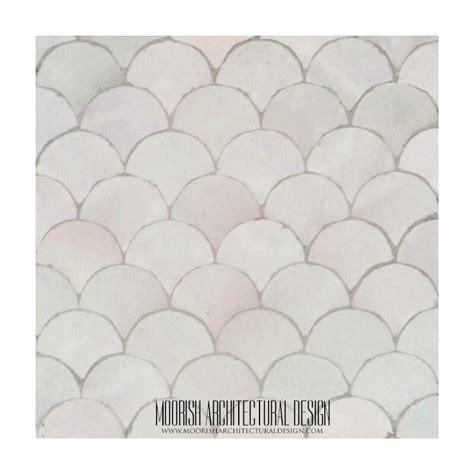 white moroccan fish scales tile