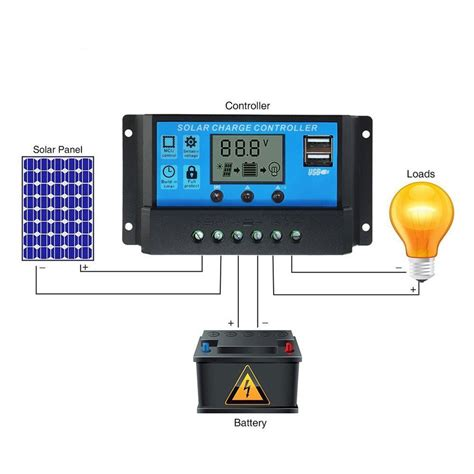 Pwm Solar Charge Controller Battery Charger Regulator