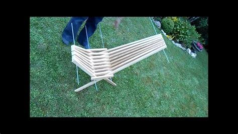 refaire une assise de chaise fabriquer une chaise pliante avec des tasseaux