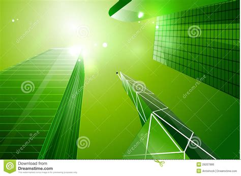 green eco business city background royalty  stock