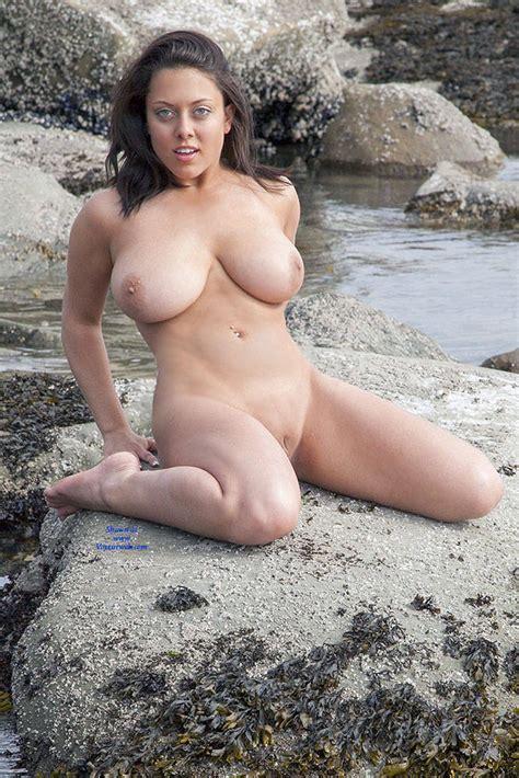 Hot And Busty On The Sea Rocks January Voyeur