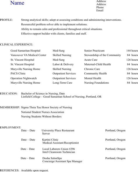 nursing resume cover letter packet
