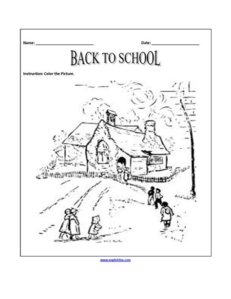 back to school worksheets back to school coloring page