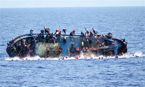 Boat Sinking Libya by Dozens Drown As Migrant Boat Sinks Coast