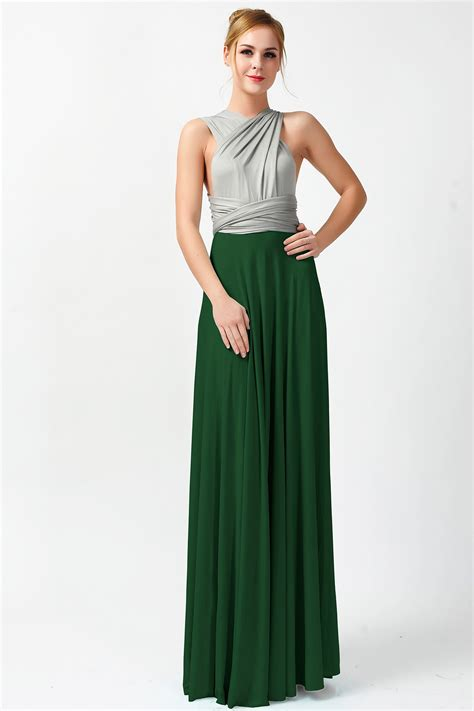 two color dress two colors gray and forest convertible dresses infinity