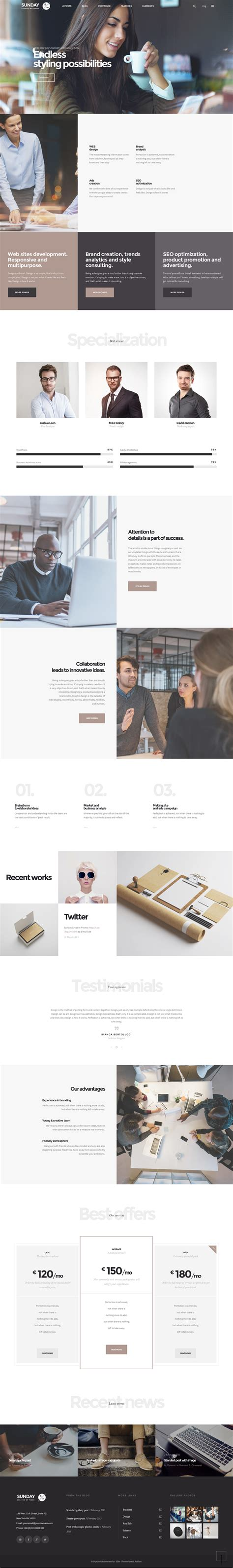 clean simple wordpress themes  web interfaces