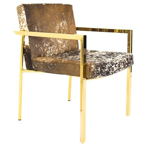 Cowhide Dining Chairs by Cowhide Dining Armchair For Sale At 1stdibs
