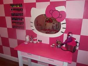 hello kitty wall mirror for adorable rooms homesfeed With kitchen colors with white cabinets with hello kitty wall stickers