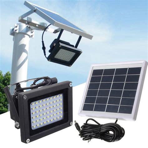 solar powered flood light dusk to dawn solar powered 54 led dusk to dawn sensor outdoor security