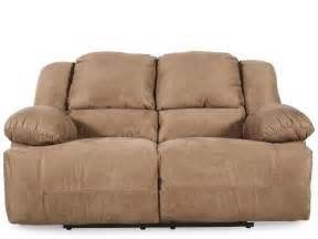 ashley hogan mocha reclining loveseat mathis brothers