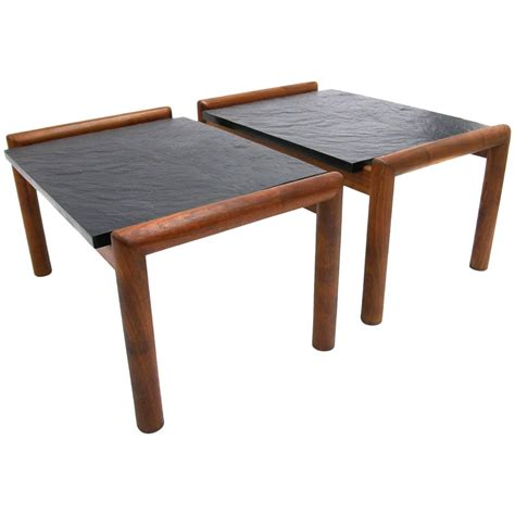 slate top end table adrian pearsall for craft associates walnut end tables